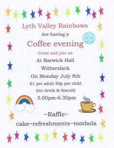 Lyth Valley Rainbows Coffee Evening